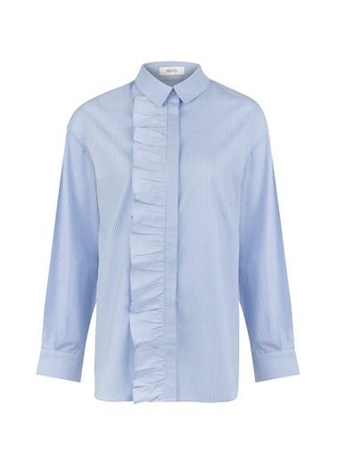 Fırfır Şeritli Gömlek-Ipekyol
